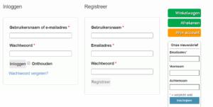 Exendo Epigenomics - wachtwoord vergeten - inloggen - registreren